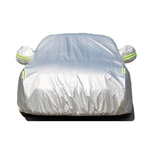 QI-CHE-YI Autobekleidung Kompatibel mit Cadillac Universal-Sonnenschutz-Regenschutz,Silber,STS