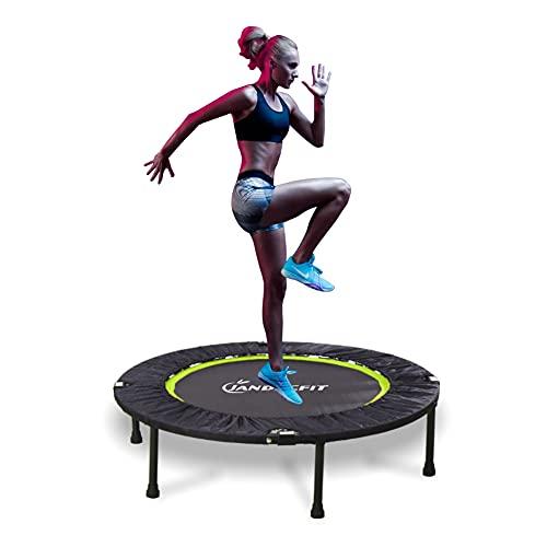 "Jandecfit Faltbares Fitness-Trampolin 40\"" Fitness Rebounder für Indoor, Garten, Mini Portable Mini Trampolin, Indoor/Outdoor für Adult Jump Sports, Max Load 330lbs"