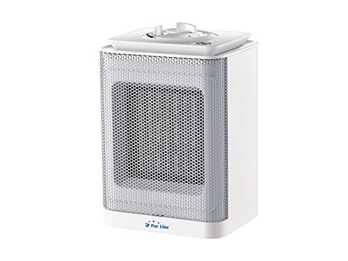 PURLINE HOTI F10 Calefactor cerámico con termostato Regulable 750-1500W, Sensor antivuelco. Calefactor para Cocina, Comedor, Dormitorio, Oficina,etc.
