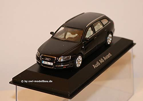 Audi A6 Avant (C6), schwarz , 2004, Modellauto, Fertigmodell, Minichamps 1:43