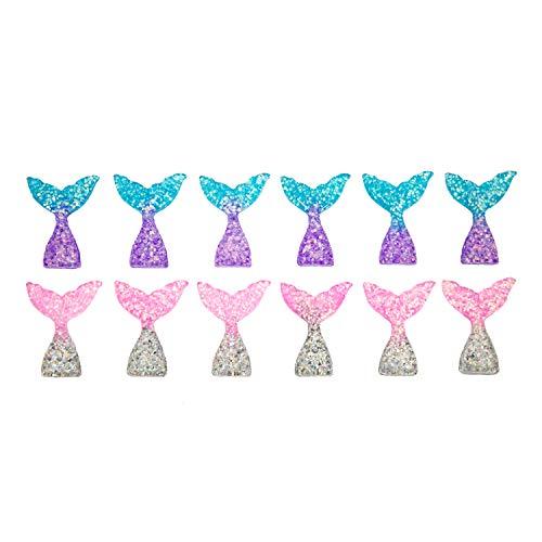 Oblique Unique® 12x Fisch Meerjungfrau Schwanzflosse Flosse als Tisch Deko für Motto Party Baby Shower Kindergeburtstag