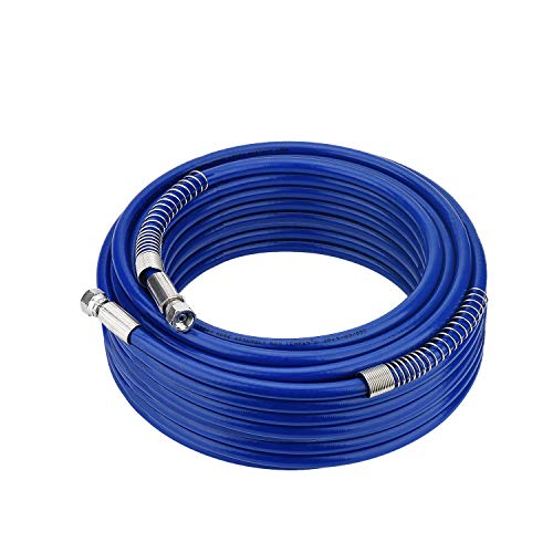 FUNTECK 98ft x 1/4 in. Airless Paint Sprayer Hose for Wagner Titan Graco Sprayer 4300 PSI Blue