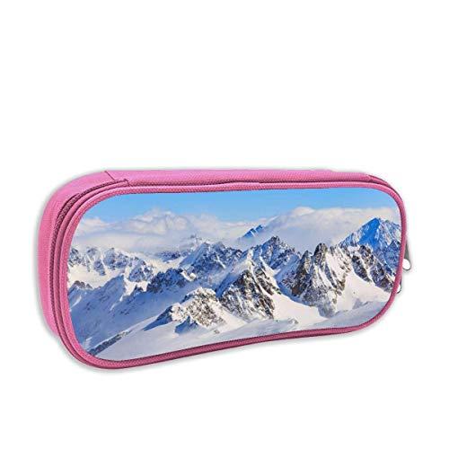 IUBBKI Snow Mountain Classroom Cute Pen Bag with Zipper