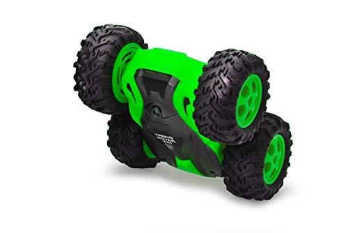 Jamara 410141 Trans Mover Stuntcar 4WD 2,4GHz - 2in1 Antriebssystem wahlweise Räder/Gummiketten - Überschlagresistent-überwindet Fast jedes Hindernis und fährt auch auf dem Rücken, grün