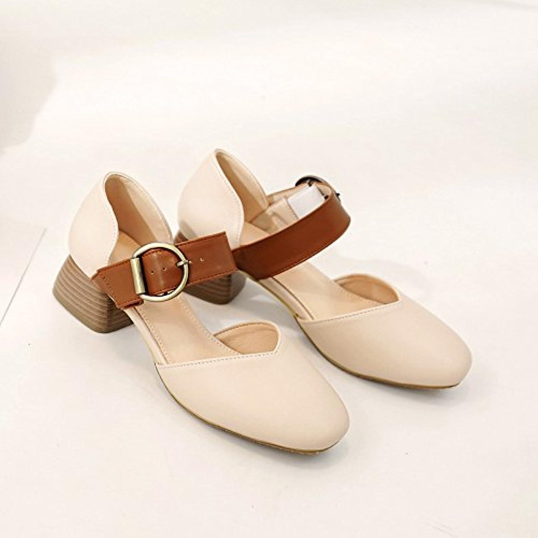 RUGAI-UE Damenabsatz mit Sandalen, Baotou Sandalen  | Reichhaltiges Design  | Kaufen  | Up-to-date Styling
