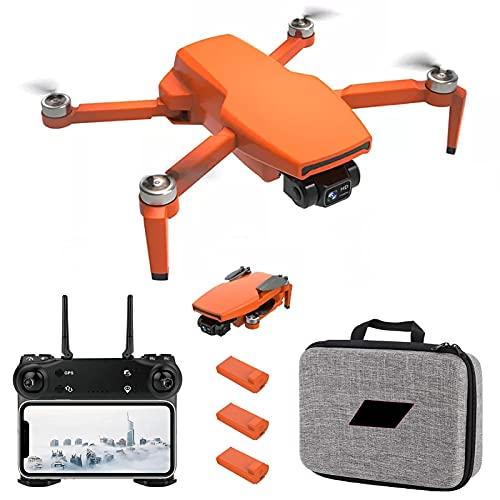 Drone GPS con fotocamera 4K per adulti, quadcopter RC con fotocamera stabile a 2 assi con video in diretta FPV a 5 GHz GPS Ritorno a casa Motore senza spazzole Seguimi Tempo di volo di 25 minuti