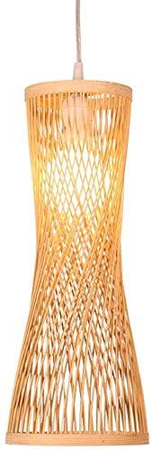 KFMJF Pendelleuchte handgeflochten aus Bambus Pendellampe Kreative Design Lampeschirm Personalisierte Hängeleuchte Rattan Kronleuchter Hängelampe für Esszimmer Schlafzimmer, Ø45cm