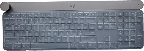 LEZE - Ultra Thin Keyboard Cover Compatible with Logitech Craft Advanced Wireless Keyboard, Logitech MX Keys Advanced Wireless Illuminated Keyboard - Clear