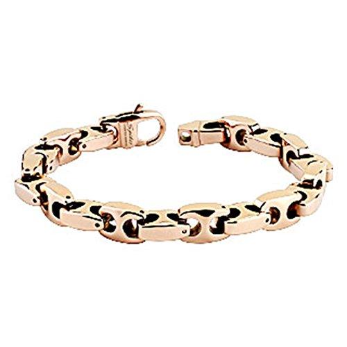 Paula & Fritz® Armband roségold Tungsten Wolfram Anker Länge Breite Dicke in m.