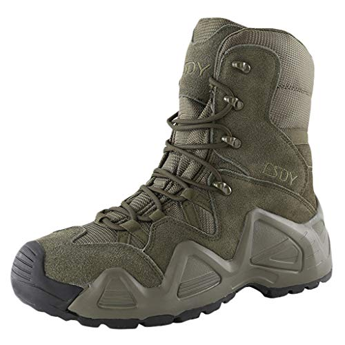 Wygwlg Hommes Tactique Recon Boot Formation Chaussures Militaire Armée Bottes de Sécurité Spec Ops Action Bottes de Combat Grande Taille,Green-39