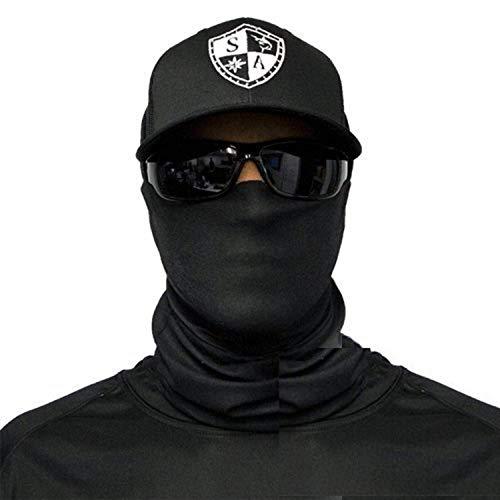 SA Fishing Company Face Shield Pasamontañas, Tactical Black