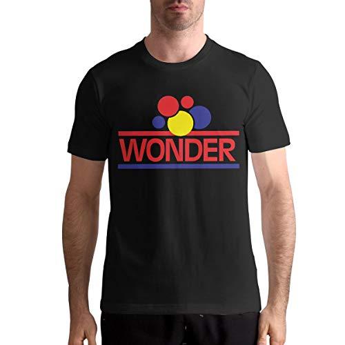 KarenJones Wonder Bread Man Short Sleeve Crew Neck Cotton T Shirts 4XL Black