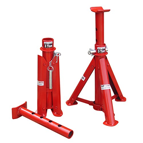 Wolf Vehicle Pair 3 Ton Tonne Steel Folding Axle Jack Stands Car Support Holding Stands Set of 2
