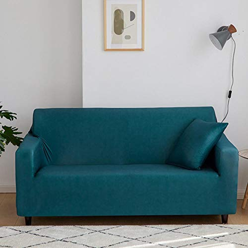 JUIC Elastic Sofa Covers Red/Green/Purple/Grey Stretch Couch Covers For Sofas Slipcovers 1/2/3/4 Seater Furniture Protector Cover,01110-Indigo,2 Seat (145-180cm)