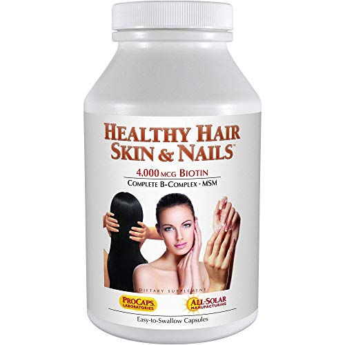 Andrew Lessman Healthy Hair, Skin & Nails 120 Capsules – 4000 mcg High Bioactivity Biotin, MSM, Full B-Complex Promotes Beautiful Hair, Skin and Strong Nails - No Additives. Easy to Swallow Capsules