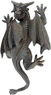Design Toscano Gargoyle Demon on the Loose Gothic Decor Wall Sculpture, Medium, 13 Inch, Polyresin, Bronze Verdigris Finish