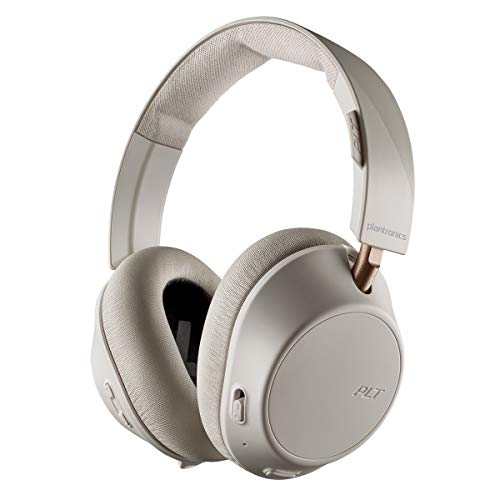 Plantronics BackBeat Go 810 Cuffie Bluetooth, Gomma Piuma di Memoria , Over-Ear, Osso-Bianco, Uni