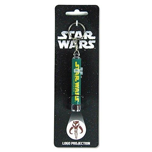 Star Wars Boba Fett Mandalorian Logo Keyring Light
