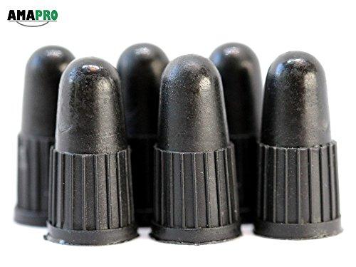 AMAPRO Ventilkappen für französische Fahrradventile - 6 Stk. - auch für Dunlopventile geeignet