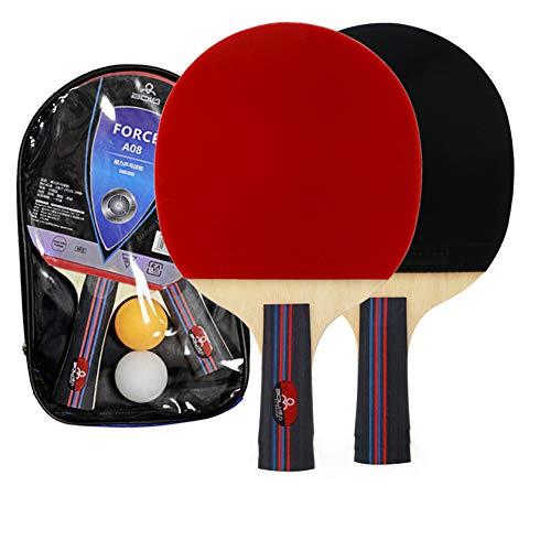GLYHE Juego de la Familia del Ping-Pong Raquetas/Paddle, Adulto Interior para niños Juegos de Tenis de Mesa, los Jugadores Principiantes avanzados Mejorar Sus Habilidades de Juego