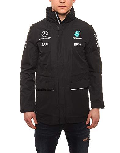 Unbekannt Mercedes AMG Petronas Formel 1 Regen Wind Jacke (Schwarz, XS)