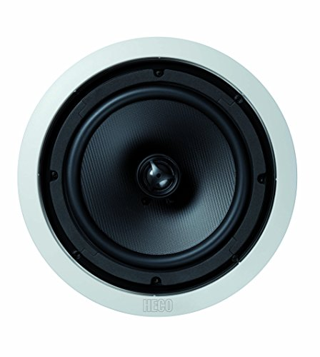 Heco Install Basic INC 82 | Wand- und Deckeneinbaulautsprecher | für Feuchträume (Badezimmer) geeignet | max 180 Watt | 1 Stück - weiß