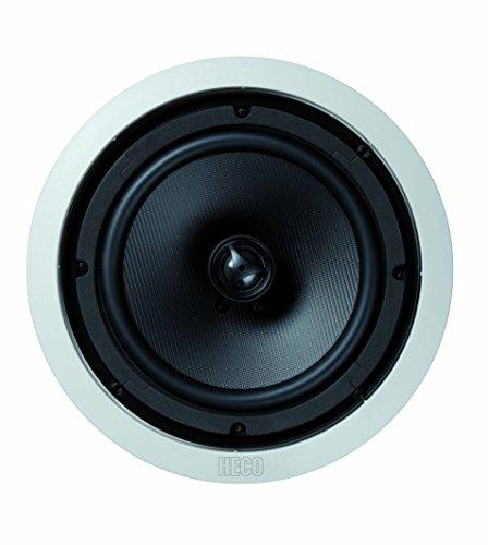 Heco Install Basic INC 82   Wand- und Deckeneinbaulautsprecher   für Feuchträume (Badezimmer) geeignet   max 180 Watt   1 Stück - weiß