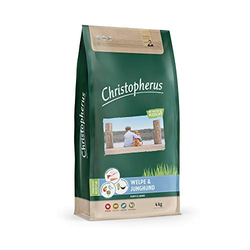 Christopherus Trockenfutter für Welpen und Junghunde, Speziell mittlere bis größere Rassen, Geflügel, Lamm, Fisch und Reis, 4 kg