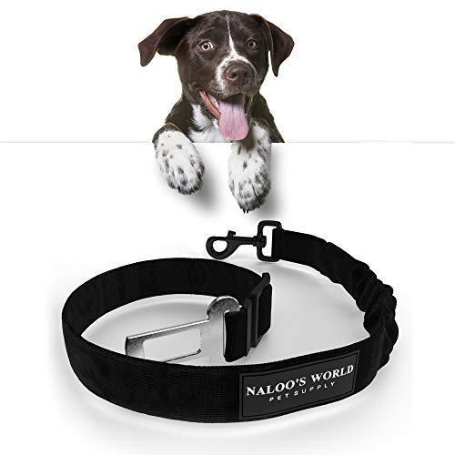 Cintura di sicurezza per cani con assorbimento degli urti | Cinghia per cani regolabile elastica | Fibbia universale adattabile + moschettone robusto | Cintura di sicurezza auto resistente ai morsi