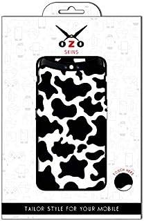 لاصقة حماية من اوزو بشكل جلد البقرة الاسود في الابيض لموبايل Nokia 2.3