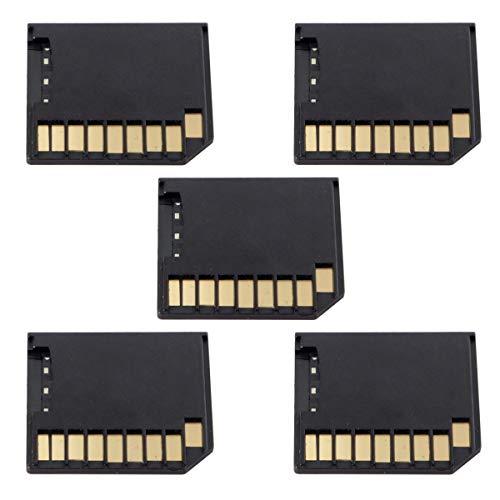 Juego de 5 adaptadores de tarjeta Micro SD TF a SD de perfil bajo para almacenamiento adicional MacBook Air/Pro/Retina, color negro