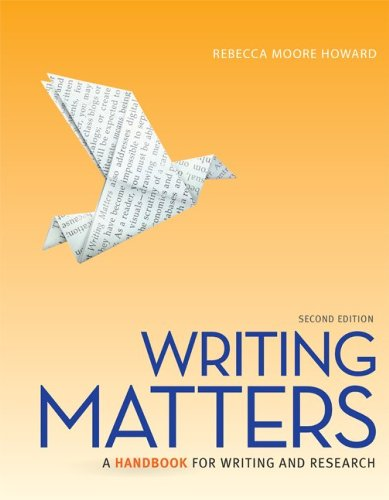 Writing Matters 2e, Tabbed (Spiral) with Connect Composition for Writing Matter 2e Tabbed