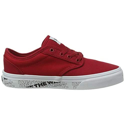 Vans Atwood Canvas, Sneaker, Rosso ((Otw) Chili Pepper/White WM7), 34.5 EU