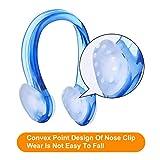 BHGWR 4 Stück Nasenklammern und Ohrenstöpselsets für Schwimmer, Weiche Silikon Nasenklammer und Ohrstöpsel für Schwimmen Erwachsene Kinder (Schwarz/Pink/Grün/Blau) - 4