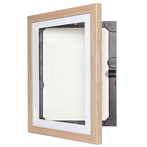 Dynamic Frames MyLittleDaVinci Holzbilderrahmen für 50 Kunstwerke zum Anzeigen oder Aufhängen von Kinderkunst - A3 und A4 Rahmen (Helles Holz, A4)
