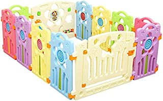 Happytoys Children Toddler Kids Playing Safety PlayPens Baby Play Fence 12 Pcs Set (Multicolour)