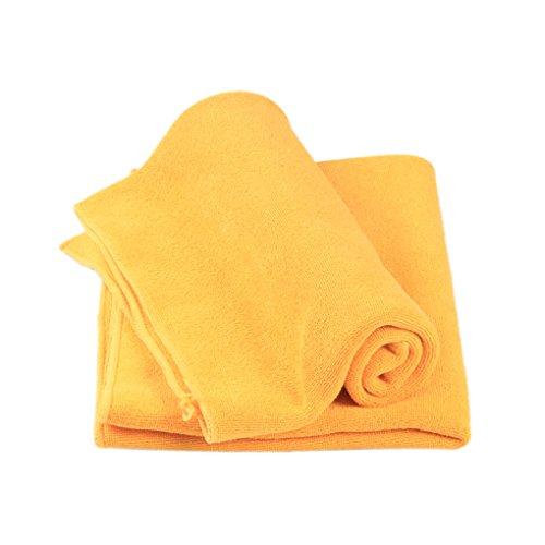 Morza Toalla de Tela Limpia Multifuncional para Pelo de la Cara de Coches Pulido y Lavar los Platos Naranja