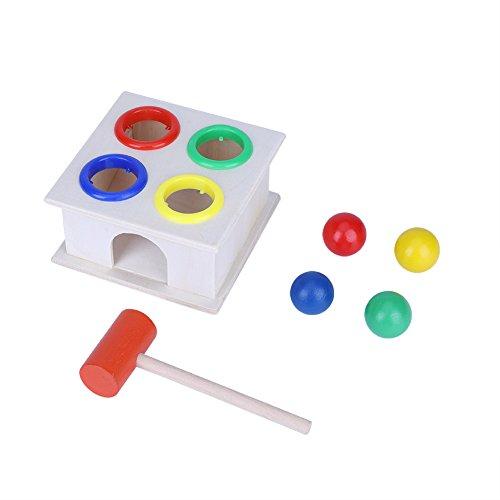 Hztyyier Juguetes para martillear y Golpear con mazo y Juguetes de Desarrollo de 4 Bolas para bebés Niños pequeños Mayores de 9 Meses