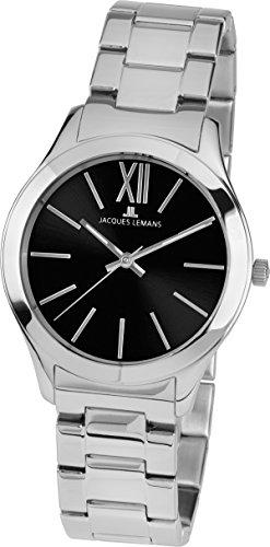 Jacques Lemans Reloj Roma 1–1840e analógico Cuarzo Acero Inoxidable