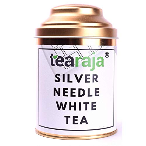 TeaRaja - Silver Needle White Tea 50 Gm(Free Tea Infuser)