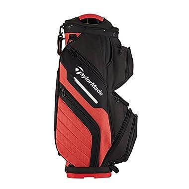 TaylorMade Supreme 2018 Cart Bag (Black/Red) (Black/Red)