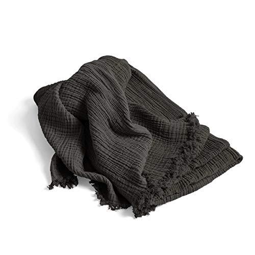 Crinkle Decke, anthrazit LxB 210x150cm