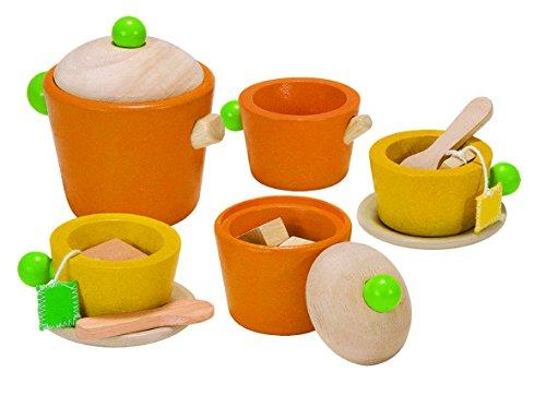 PlanToys- Juego de té, Utensilios de Cocina de Juguete (3604)