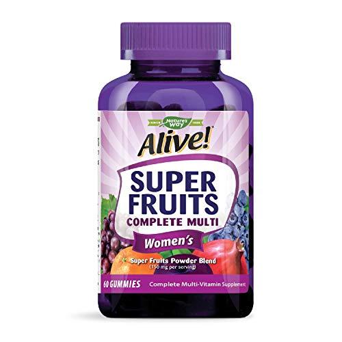 Nature's Way Alive! Super Fruits Women's Multivitamin, Vitamins A, C, D, E, B Complex, 60 Gummies