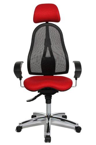 TOPSTAR Fitness-Drehstuhl Sitness 45, schwarz/rot