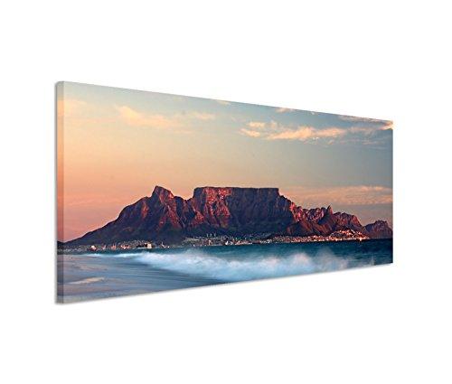 Bestforhome GmbH Modernes Bild 150x50cm Landschaftsfotografie – Strand vor Kapstadt