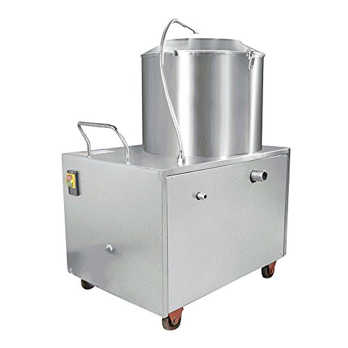 Finlon Heavy Duty Commercial Electric Potato Peeler (Capacity:33-34lb) Automatic Potato Peeler Sweet Potato Peeling Cleaning machine 1500W 15-20KG