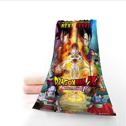 chinawh Benutzerdefinierte Dragon Ball Anime Badetuch Waschlappen Home Textile Reise Hand Gesicht Handtuch Mikrofaser Badetücher für Erwachsene 70x140cm