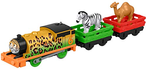 Thomas & Friends FXX56 Thomas and Friends Trackmaster Motorised Animal Party Percy Engine, Multi-Colour