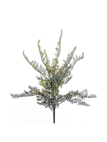 artplants.de Kunstpflanze Schildfarn INDIVAR auf Steckstab, grün, 30cm - Künstlicher Frauenfarn